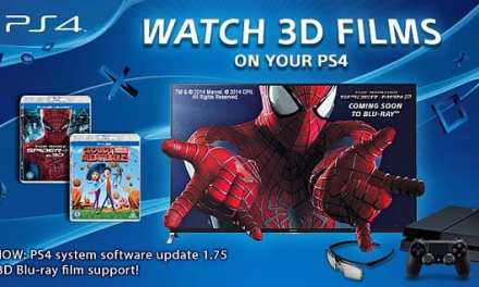 PlayStation 4 now allows users to watch Blu-ray 3D movies