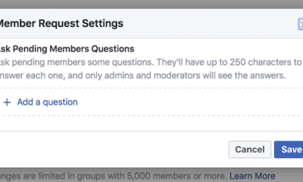 Facebook Group Admins Now Allowed To Set Up Quiz Questions To Screen Potential Members