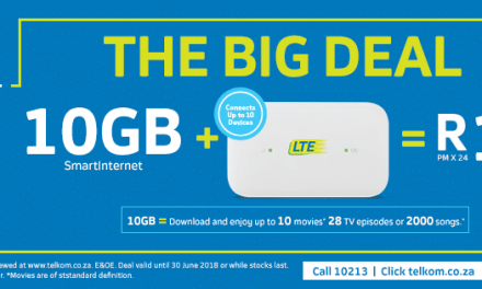 Telkom Unveils Its Big Deal for June, 10GB LTE data for R139