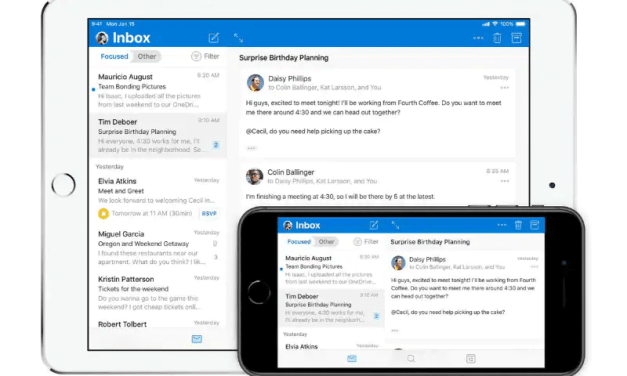 Microsoft Outlook Update for iOS Brings Fresh New Design