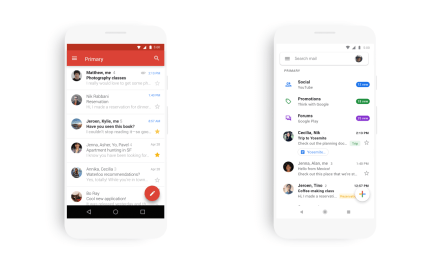 New Material Theme for Gmail Arrives on iOS