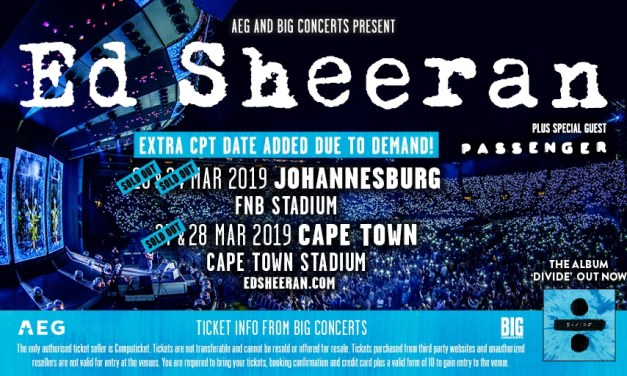 ED SHEERAN: South African Tour Announcements and Updates