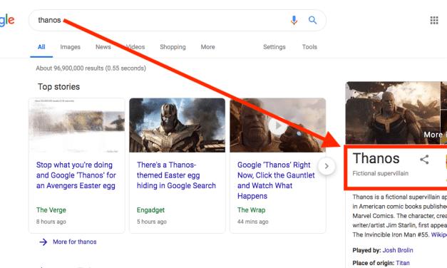 Avengers: Endgame Villain Thanos Snaps Fingers, Google Search Results Vanish