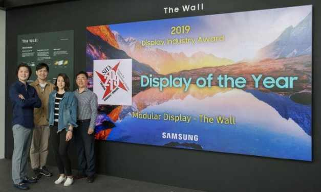"""The Wall"" by Samsung Wins Coveted Display Industry Award Job"