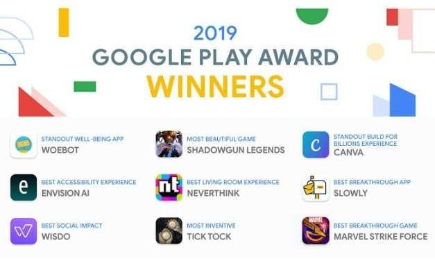 Google Play Awards Announced for 2019