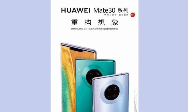 Huawei Mate 30 Pro Leaked, Indicates Circular Quad-Camera Layout