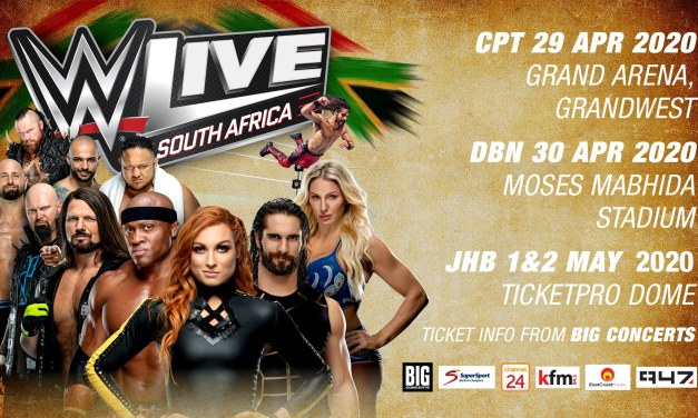 WWE LIVE™ Returns to South Africa in 2020