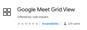 Google Meet Grid View