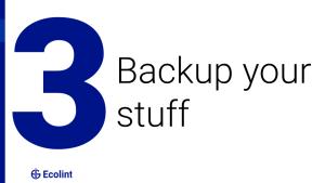 Backup your stuff
