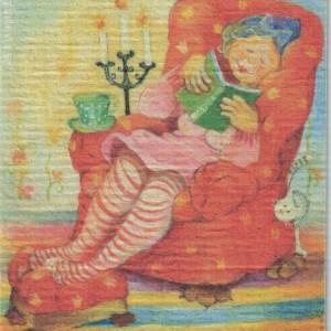 Disktrasa med motiv av Mysstund Birgitta Linderholm
