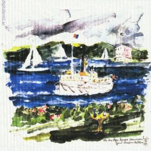 Disktrasa med motiv av Kastellet Vaxholm Lena Linderholm