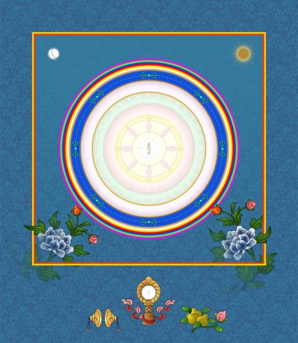 White Tara Mantra garland