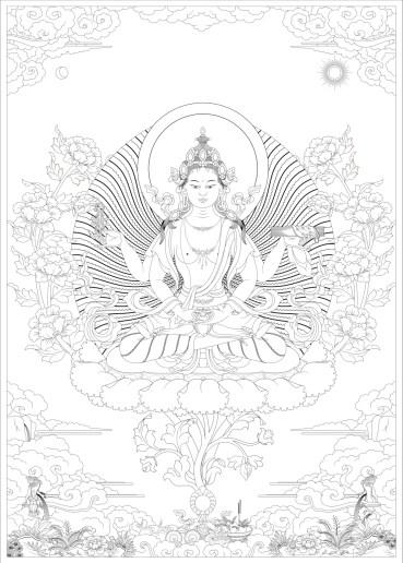 Prajnapramita Line Drawing