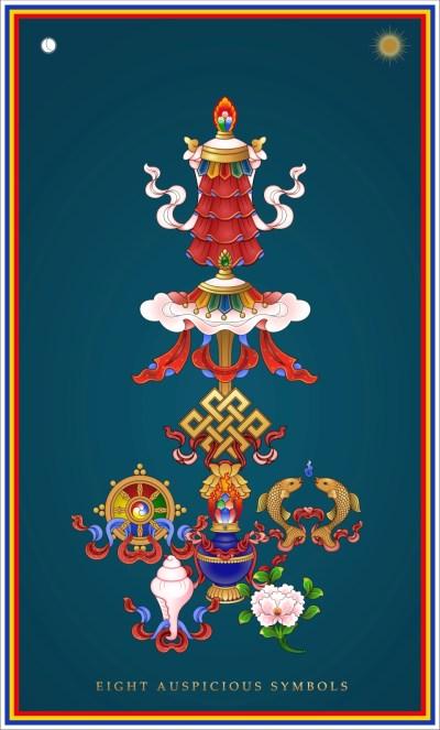 Eight Auspicious Symbols Tower