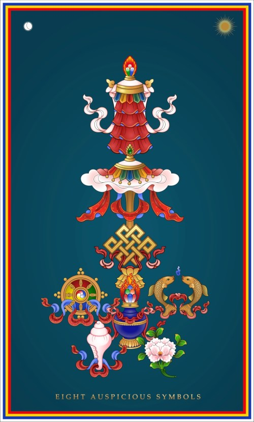 Eight Auspicious Symbols Tower