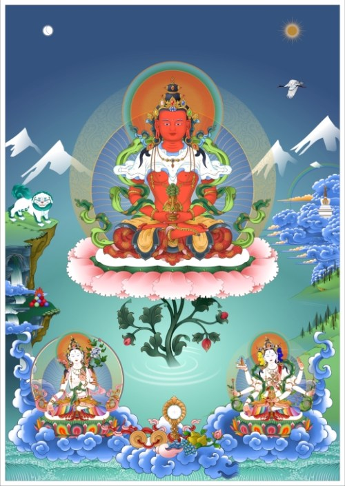Long Life Deities Amitayus White Tara Namgyalma