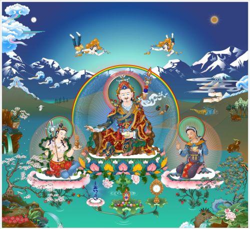 Padamsambhava, Mandarava and Yeshe Tsogyal