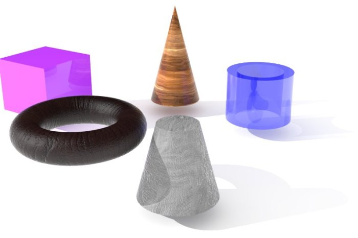 5 objects rendering 5 archi 136