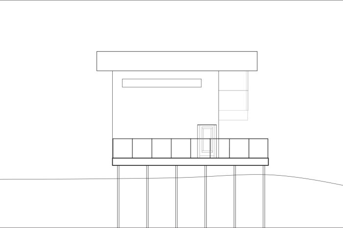 Final elevation line drawing