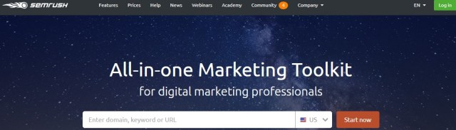 SEMrush - marketing tool for digital marketing professionals