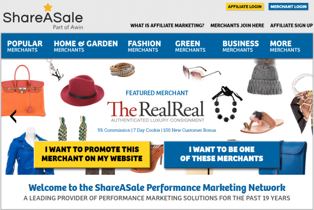 Top 9 Affiliate Programs in 2019: ShareASale