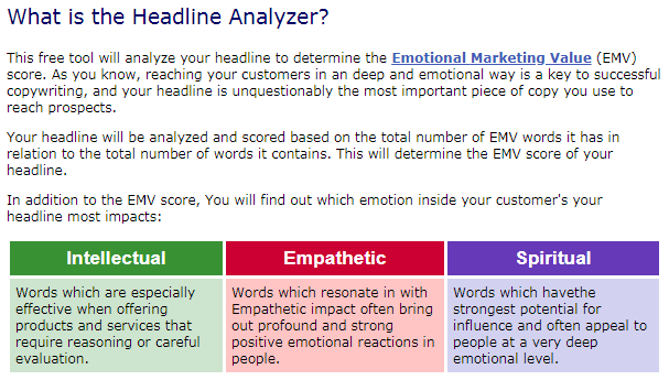 EMV Headline Analyzer