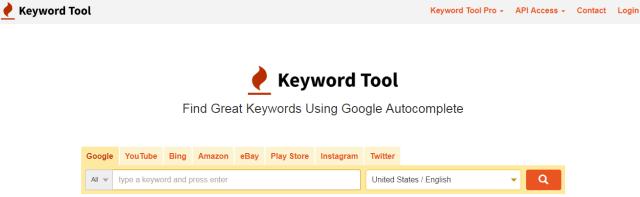 Blogging tools- Keywordtool.io
