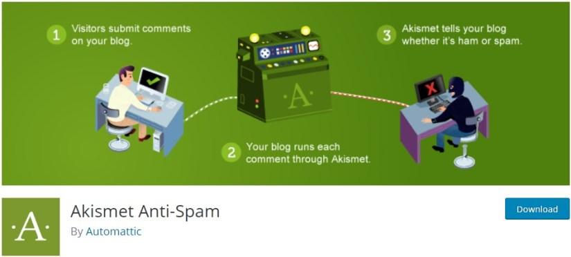 Akismet: Best Anti-Spam WordPres Plugin for Blogs