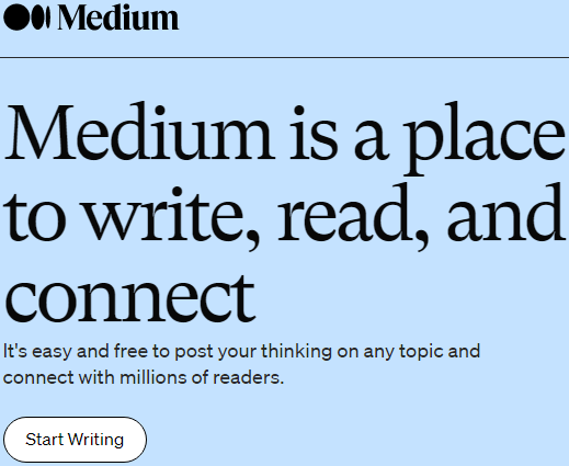 Medium: A Place to Write, Read, and Connect