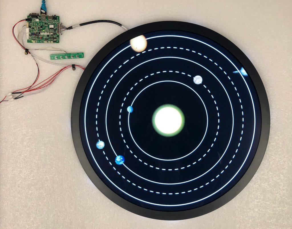 "AUO circular LCD panel 23.6"""