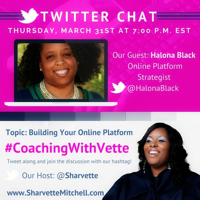 Build your online platform with Halona Black #coachingwithvette