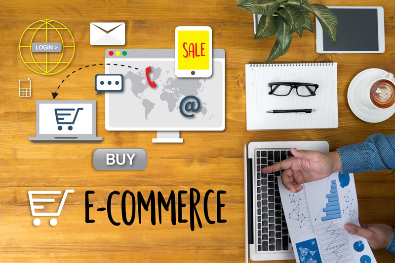 infographic shows the parts of the eCommerce business