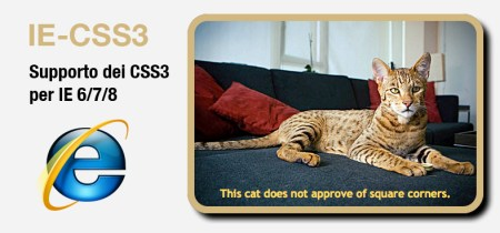 IE-CSS3 - Supporto dei CSS3 in IE 6/7/8