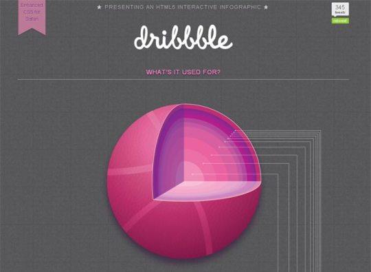 HTML5 Dribbble Infographic