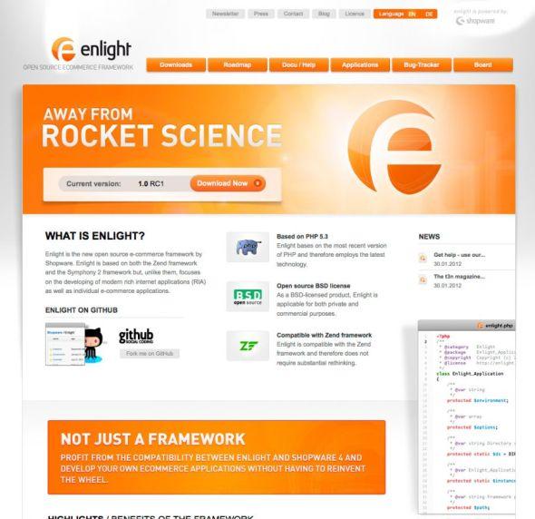 enlight ecommerce free