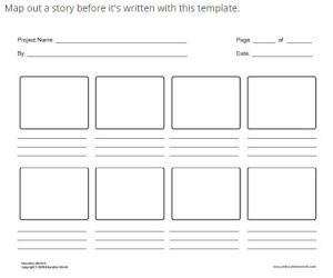 Education World storyboard template