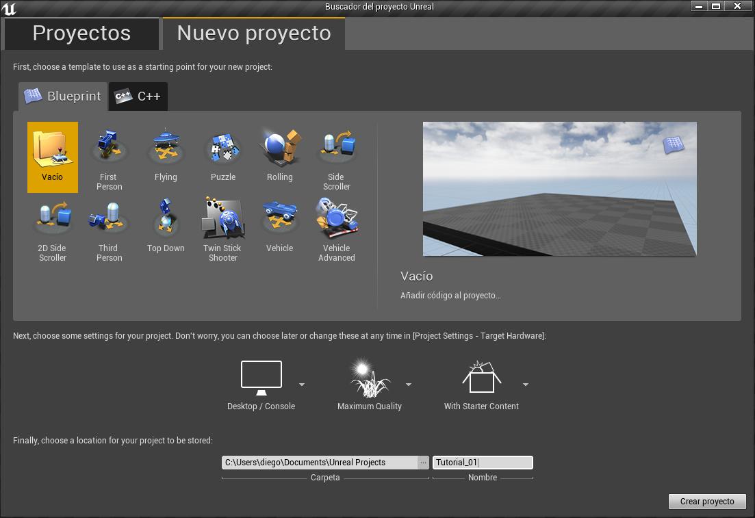 Interfaz en unreal engine 4 parte 1 digitremor esta es la pantalla de bienvenida nos muestra la opcin de abrir proyectos o crear nuevos a partir de las distintas plantillas disponible cabe mencionar malvernweather Image collections