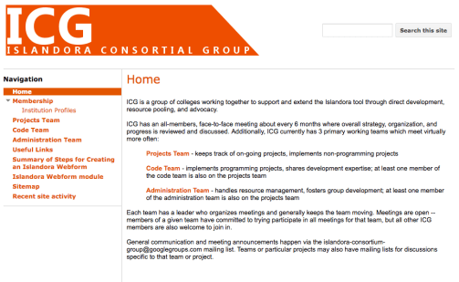 The Islandora Consortium Group