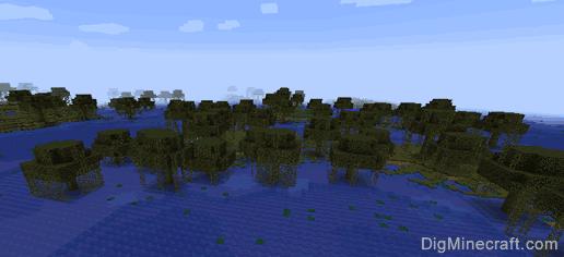 Swampland Biome In Minecraft