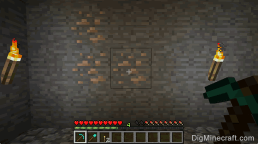 finding iron ore in minecraft
