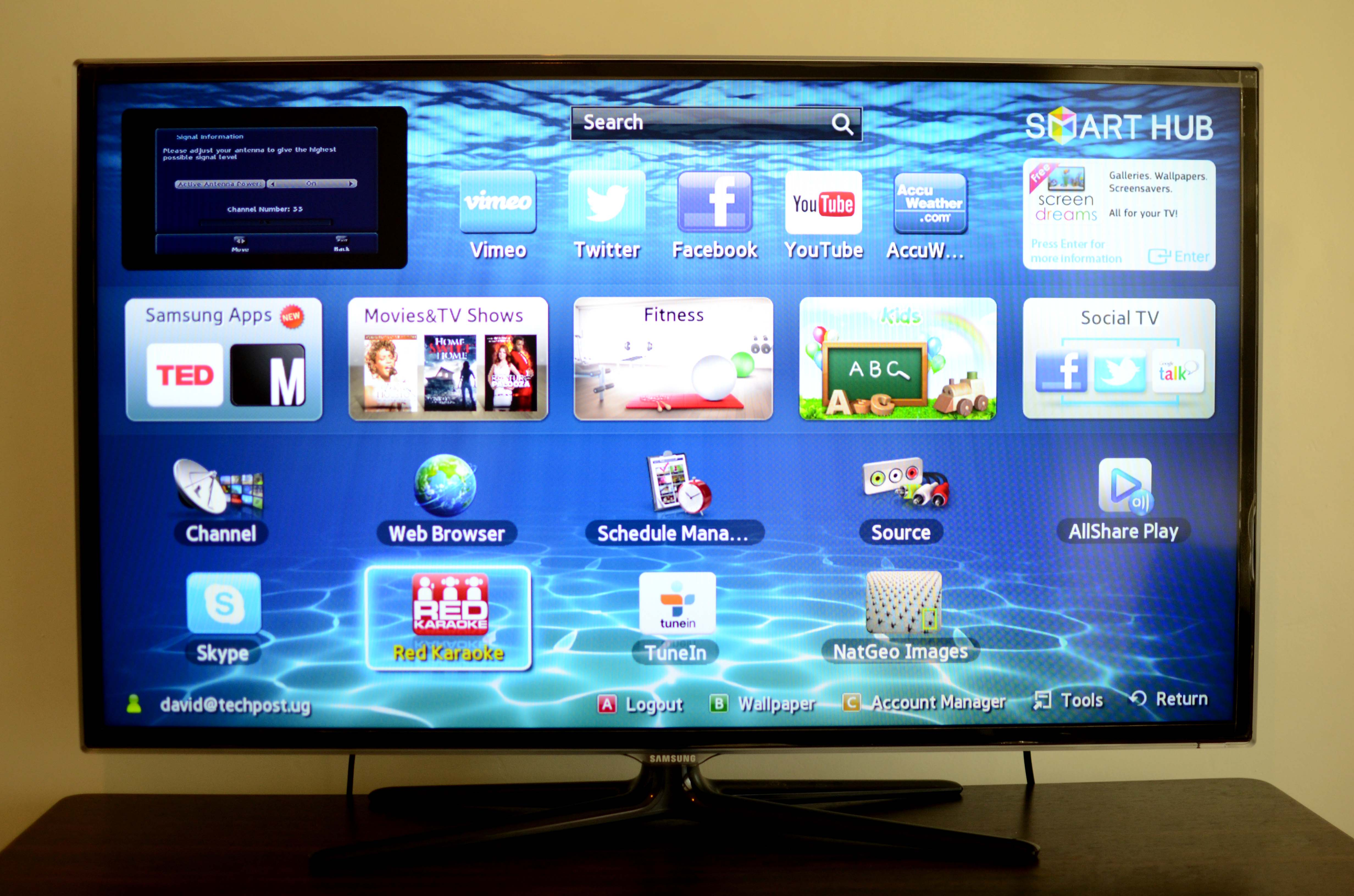 Review: Samsung UA46 ES6200R Series 6 3D LED SmartTV - Dignited