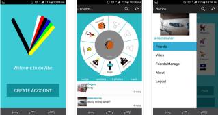 dovibe mobile app screenshots