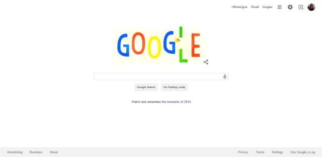 Google Doodle 31st December 2014