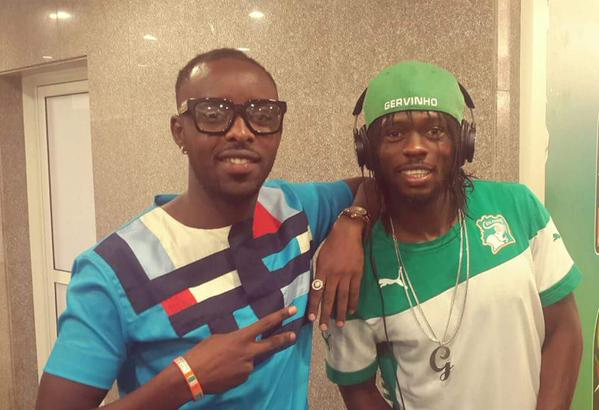 Eddy Kenzo with Ivory Coast African Cup winner 2015, Gervinho