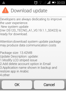 Infinix hot x507 system update