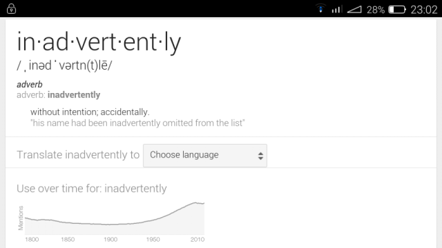inadvertently