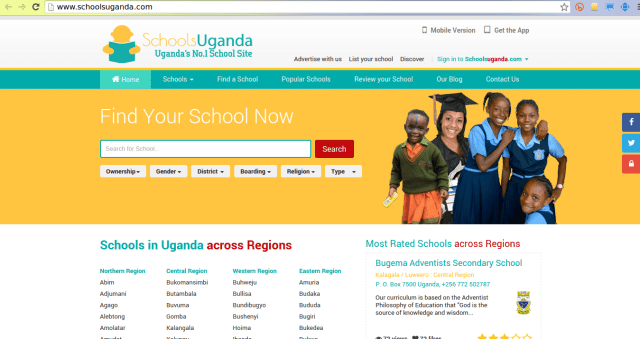 schools uganda directory