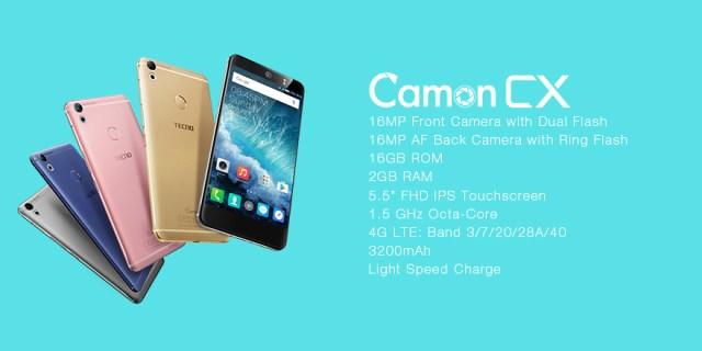 Tecno Camon CX colors
