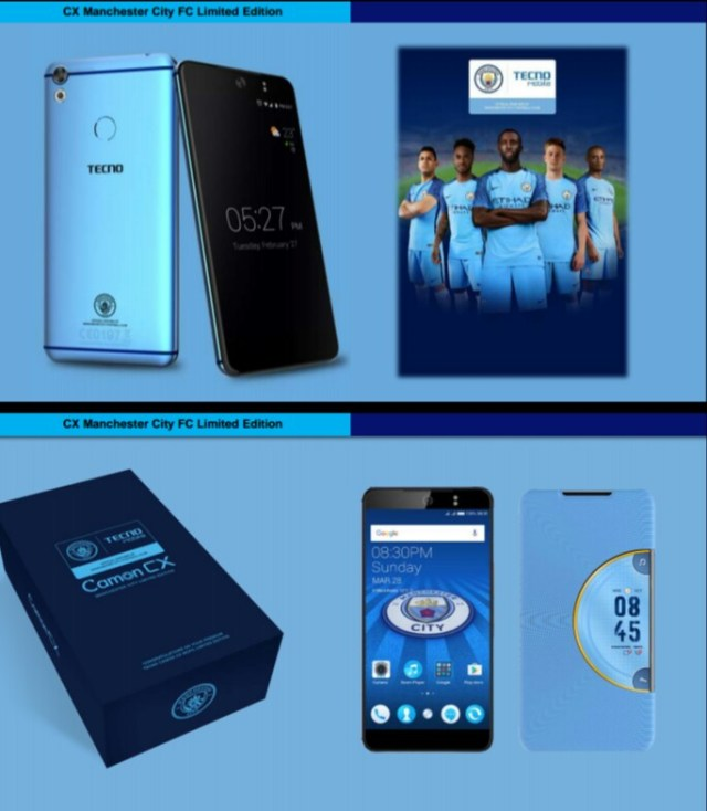 TECNO Camon CX Manchester City Edition - Dignited