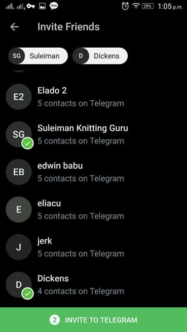 Telegram Invite Friends